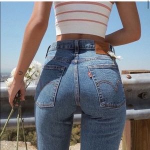 NEW Levi's wedgie straight jeans 25